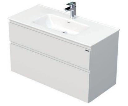 Skříňka s umyvadlem a se 2 zásuvkami, 101x46x59,5 cm