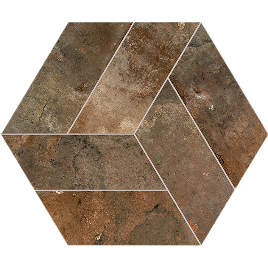 Dlažba Basalt Mud 20x24 cm, mat