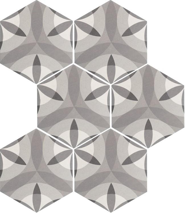 Obklad/dlažba Hexatile Nature B&W 17,5x20cm mat