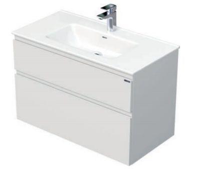 Skříňka s umyvadlem a se 2 zásuvkami, 91x46x59,5 cm