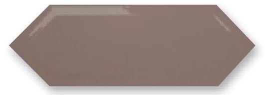 Obklad Cupidón Moka Brillo Bisel, 10x30 cm, lesk s fazetou