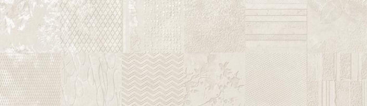 Dekor Atelier White, 29x100 cm, matný, rektifikovaný