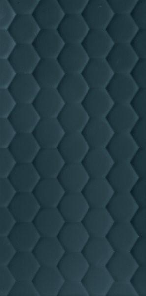 Obklad Blue Hexagon 40x80 cm, mat