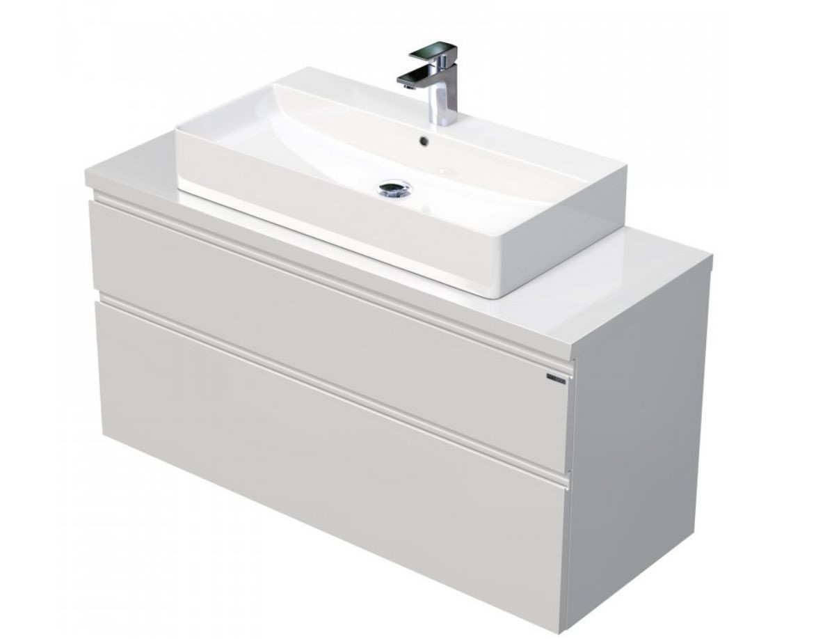 Skříňka 120x46x51,6 cm s umyvadlem na desku 80x42x13 cm a se 2 zásuvkami