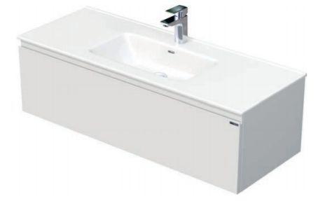 Skříňka s umyvadlem a s 1 zásuvkou, 121x46x36,5 cm