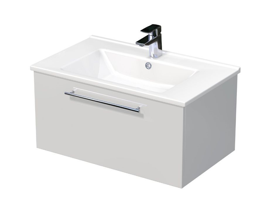 Skříňka s umyvadlem ARTE a s 1 zásuvkou 75x45x38 cm