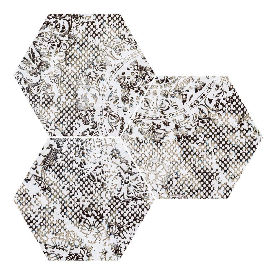 Obklad/dlažba Hexagon White 25x29 cm, pololesk