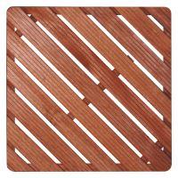 Dřevěná sprchová rohož čtverec 75x75cm