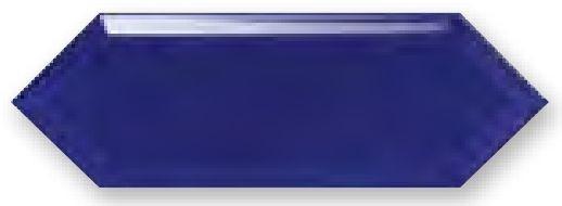 Obklad Cupidón Azul Brillo Bisel, 10x30 cm, lesk s fazetou