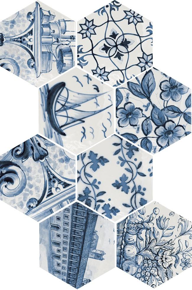 Obklad Hexatile Patchwork Lisboa 17,6x20,1cm, mat