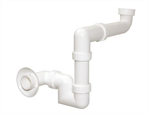 Umyvadlový sifon do koupelnového nábytku pro úsporu místa 5/4 matka x 40mm, série Kompletní umyvadlové sifony