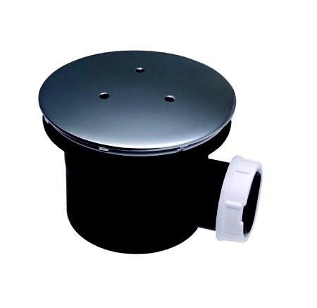 Vaničkový sifon Professional, průměr 90mm, odtok 30 litrů za minutu, víko mosaz/chrom, série DN90