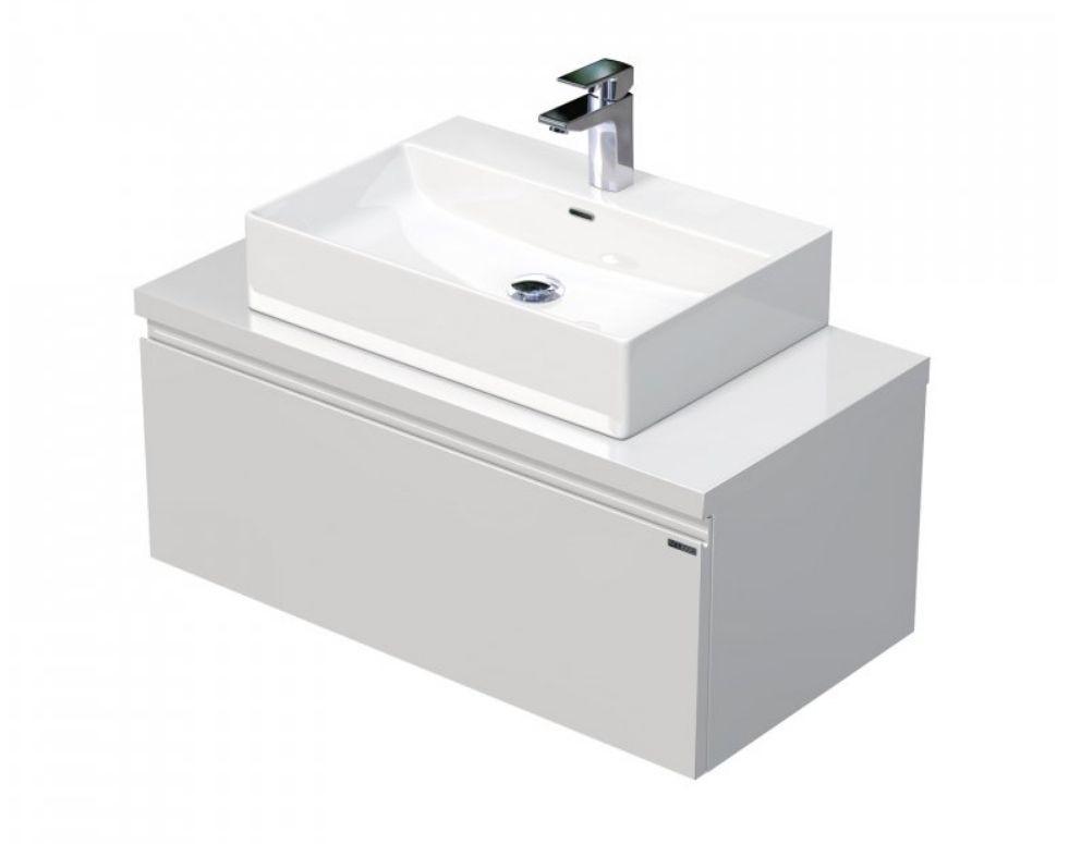 Skříňka 90x46x51,6 cm s umyvadlem na desku 60x42x13 cm a s 1 zásuvkou