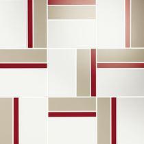 Mosaic Diluvio Rubi, 35x35x1,05cm (1,9x1,9cm) lesk, série Acqua