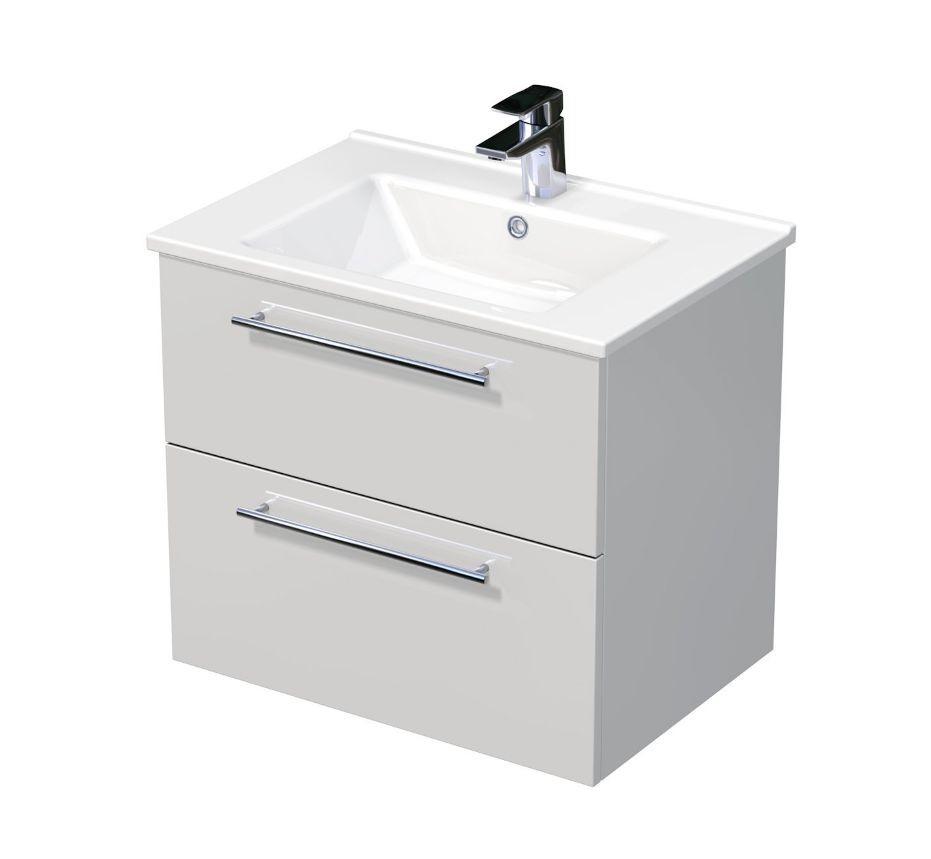 Skříňka s umyvadlem ARTE a se 2 zásuvkami 65x45x58 cm