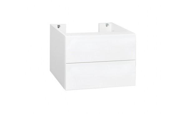 Skříňka pod desku s umyvadlem s výřezem na sifon, bílá nebo v dekoru dřeva