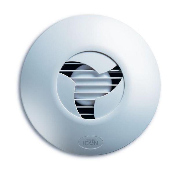 Icon 15 - Ventilátor pro toalety a koupelny, bílý