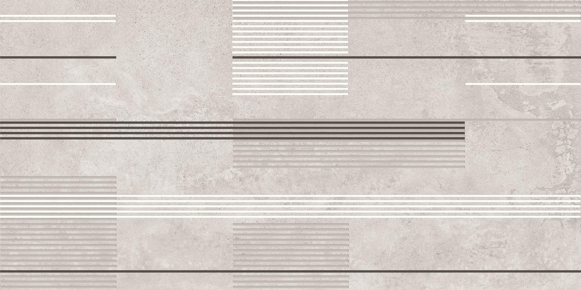 Dekor Urban Stripes Cement 50x100, rektifikovaný