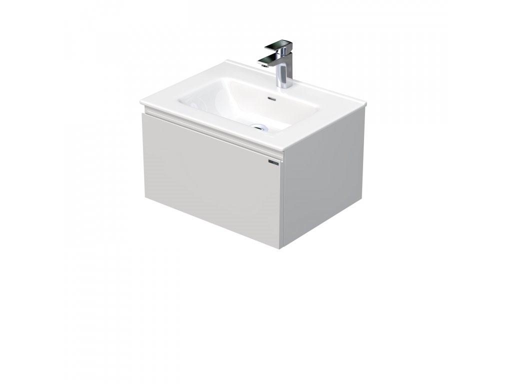 Skříňka s umyvadlem a s 1 zásuvkou, 61x46x36,5 cm