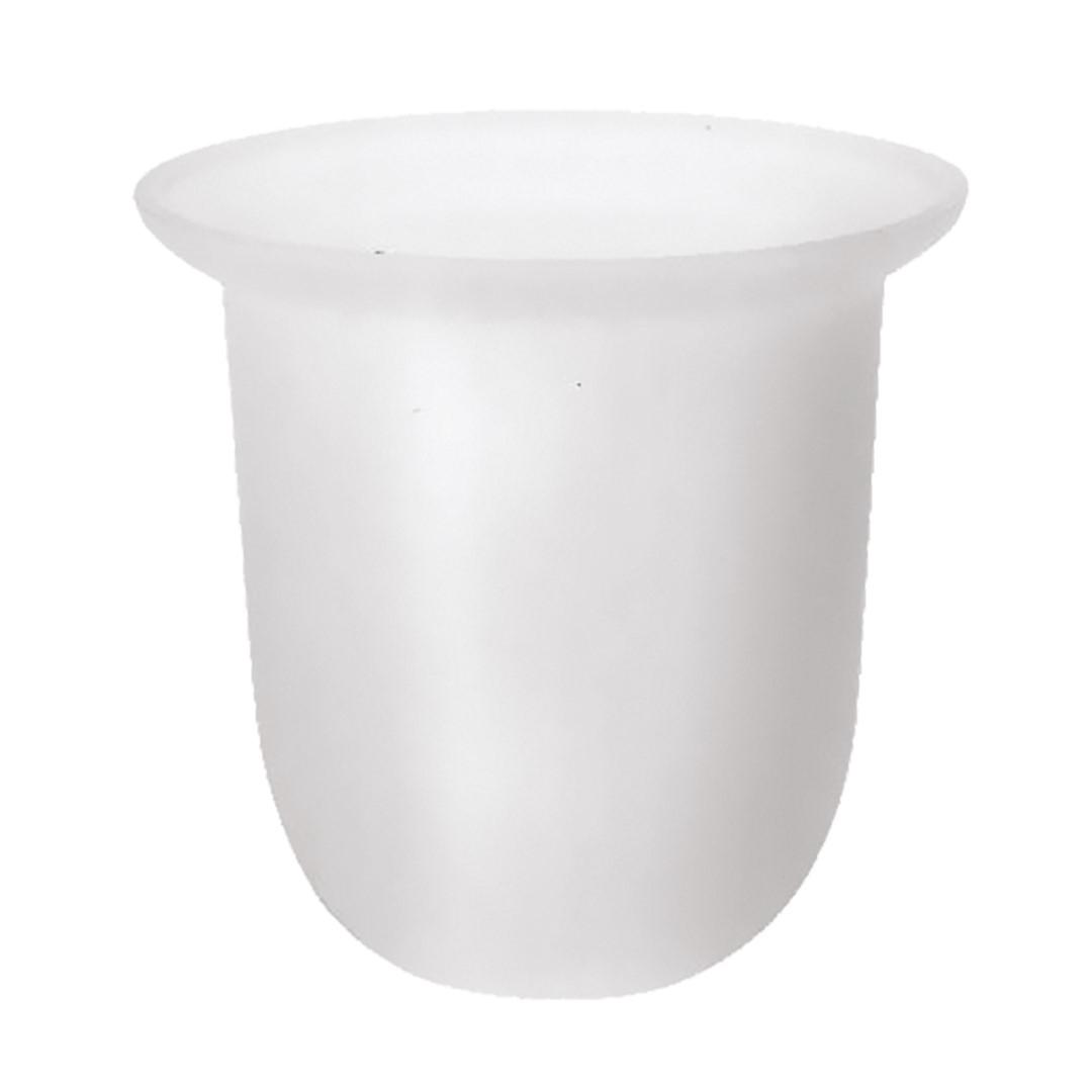 Náhradní miska na WC štětku mléčné sklo