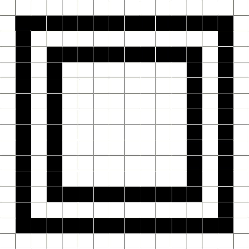 Dlažba Grid Full 20x20 cm, matt