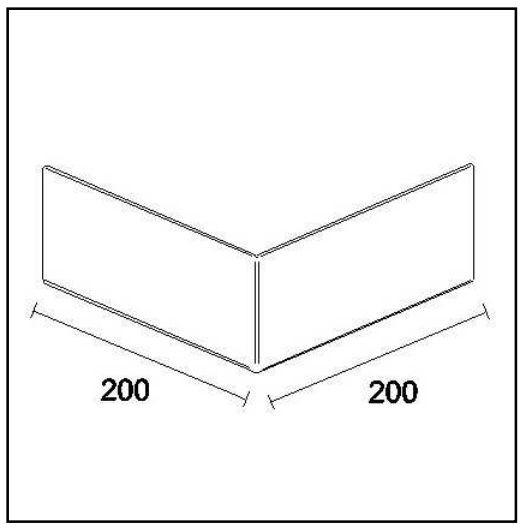 Vnější roh 90° 20x20x10 cm, šedý