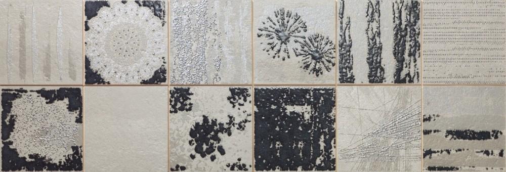 Obklad Collage Smoke 30x90 cm, mat