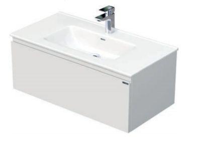 Skříňka s umyvadlem a s 1 zásuvkou, 91x46x36,5 cm