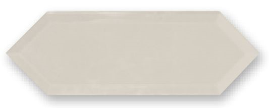 Obklad Cupidón Light Grey Brillo Bisel, 10x30 cm, lesk s fazetou