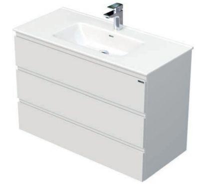 Skříňka s umyvadlem a se 3 zásuvkami, 101x46x70,5 cm