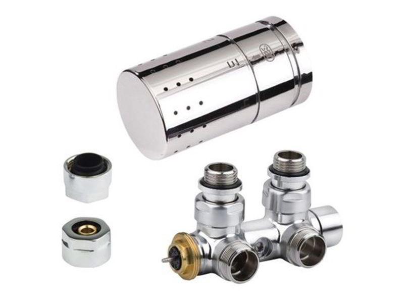 Set - rohový středový termostatický ventil, připojení na měděné trubky, série O19CWC-21