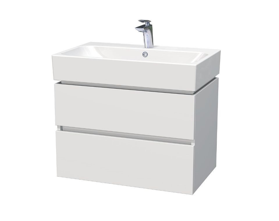 Skříňka s umyvadlem a se 2 zásuvkami 75x46,5x66 cm
