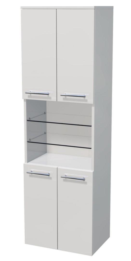 Vysoká skříňka 4 dveře, otevřená police 50x35x161,8 cm