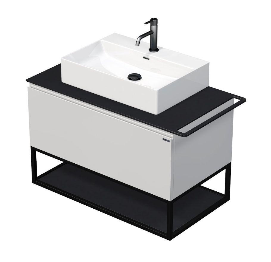 Skříňka 90x50,5x50 cm s umyvadlem 60x42x13 cm a s 1 zásuvkou