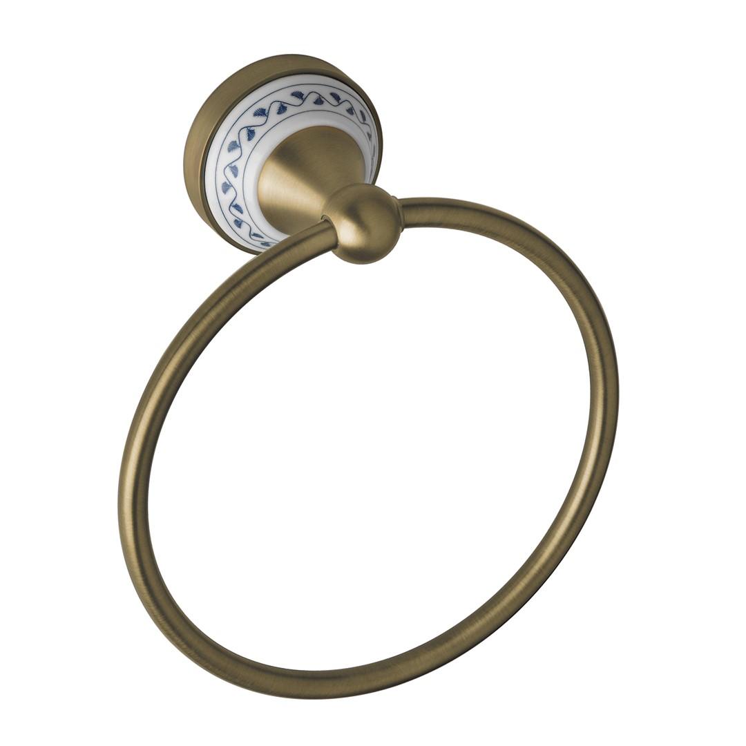 Kruhový držák na ručníky, bronz
