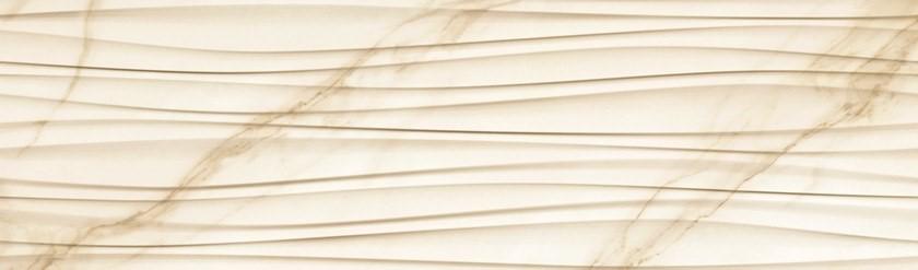 Obklad Struttura Onda Avorio Lux 25x85 cm, lesk