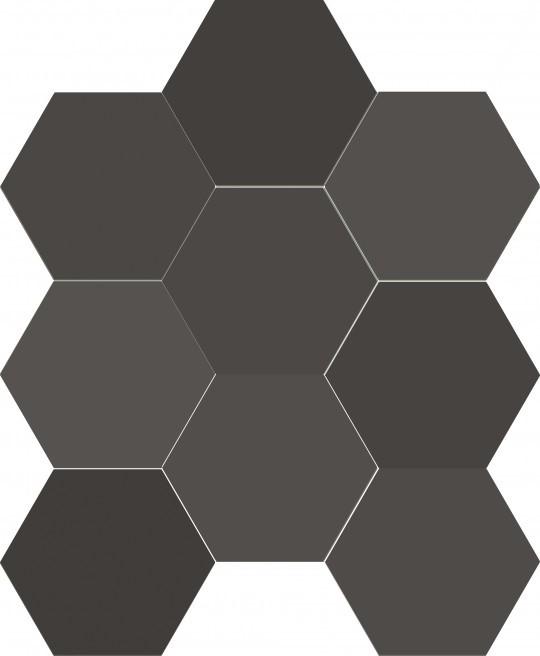 Obklad/dlažba Chicago Exa Charcoal 21,5x25 cm, mat