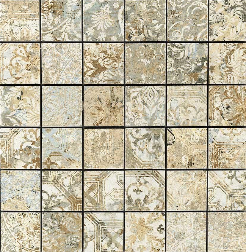 Kobercová mozaika Sand Natural mate 30x30 cm, série Carpet
