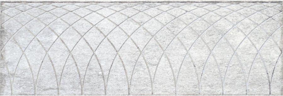 Obklad Mayestic Grey Decor 10x30 cm, lesklý