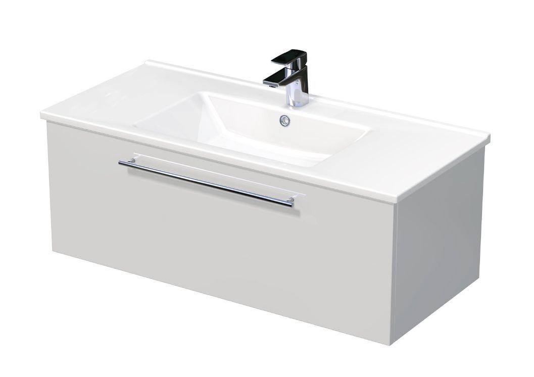 Skříňka s umyvadlem ARTE a s 1 zásuvkou 100x45x38 cm