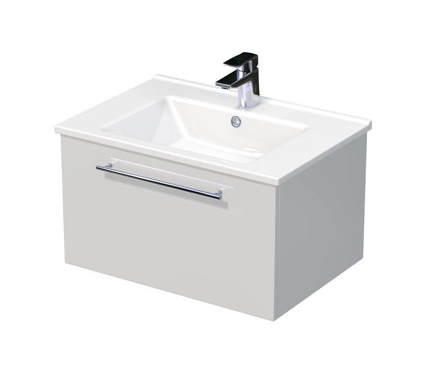 Skříňka s umyvadlem ARTE a s 1 zásuvkou 65x45x38 cm