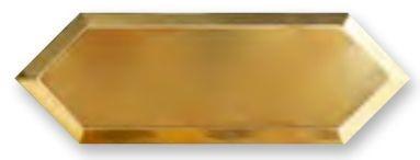 Obklad Cupidón Gold Base Bisel 10x30 cm, lesklý s fazetou