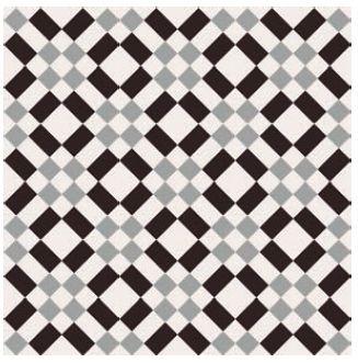 Obklad/dlažba Black-White 2 20x20cm, matná, rektifikovaná