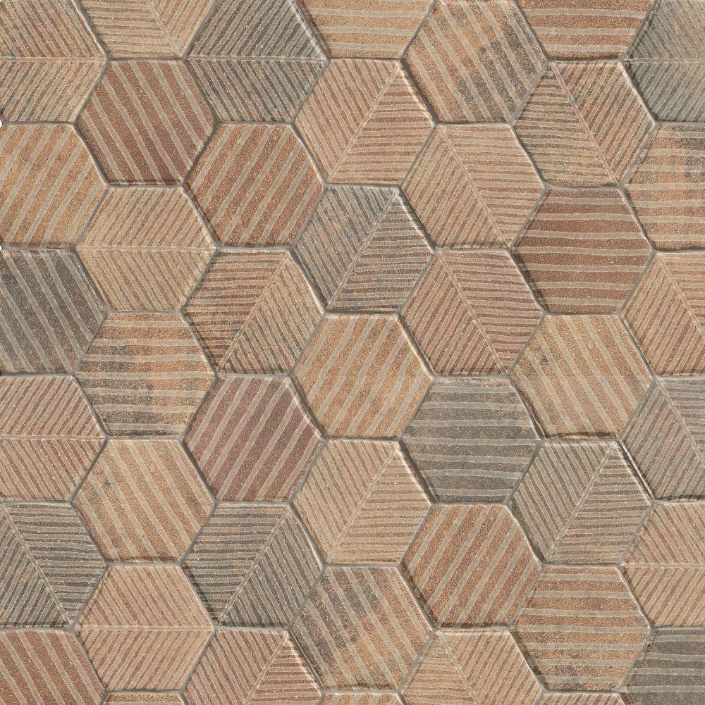 Dlažba Fibber Natural 18x20,5 cm, mat