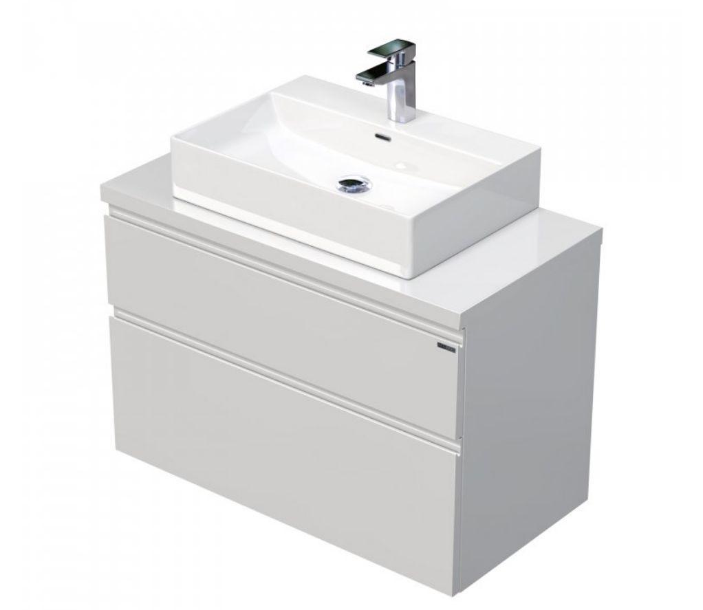 Skříňka 90x46x51,6 cm s umyvadlem na desku 60x42x13 cm a se 2 zásuvkami