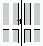 Dveře 125cm, série Hector