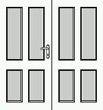 Dveře 145cm, série Hector