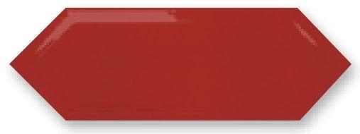 Obklad Cupidón Rojo Brillo Bisel, 10x30 cm, lesk s fazetou