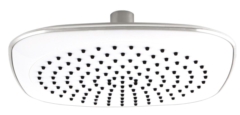 Pevná sprcha o průměru 200 mm, bílá/chrom