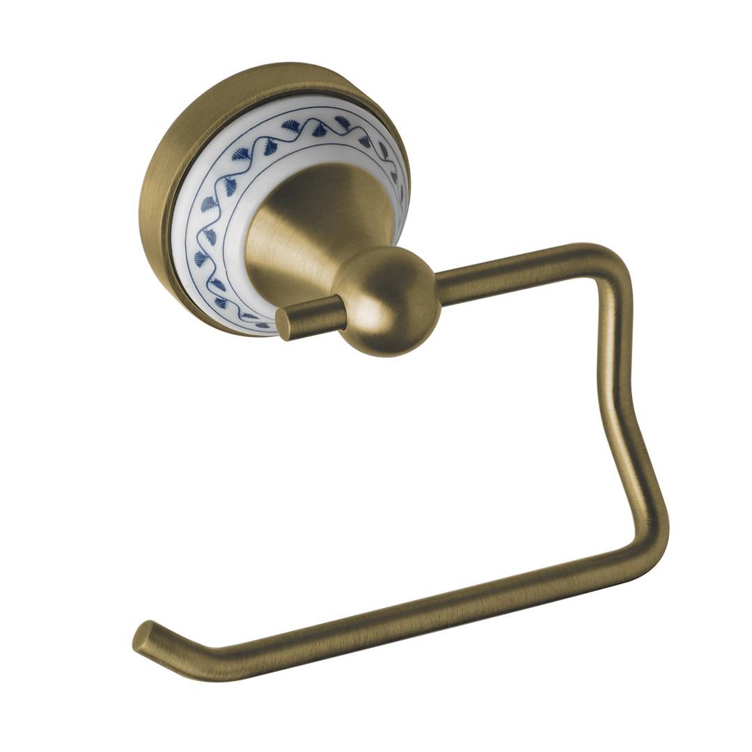 Držák na toaletní papír bez krytu, bronz